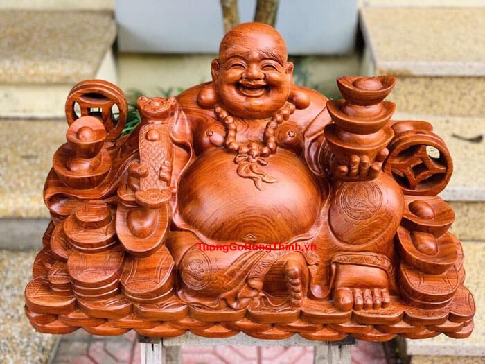 Tượng Phật Di Lặc Bằng Gỗ Tự Nhiên Cao Cấp