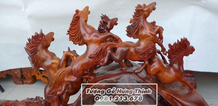 Tượng Ngựa Gỗ Phong Thủy Đẹp