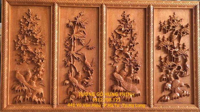 Ý nghĩa bộ tranh tứ Quý phong thủy: Tùng - Cúc - Trúc - Mai