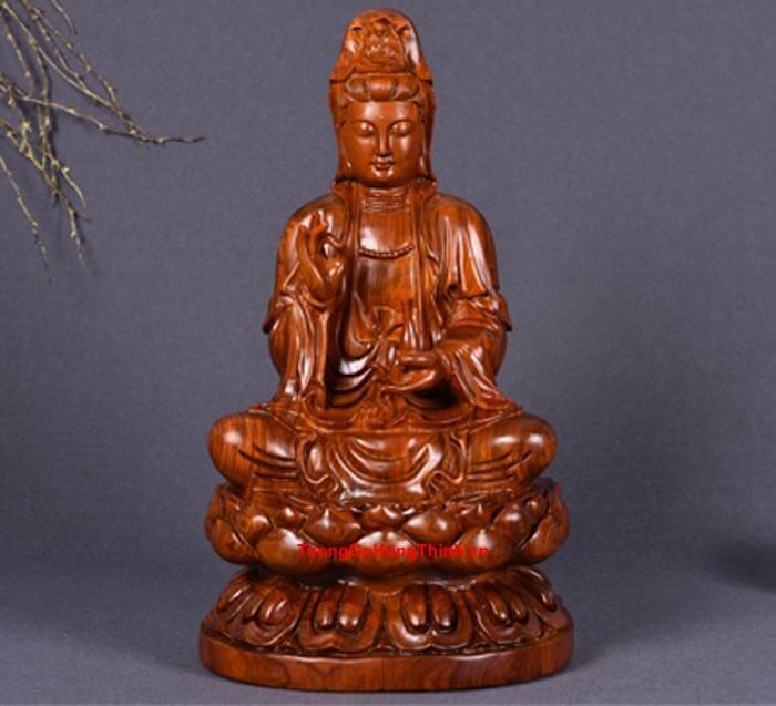 Tượng Gỗ Phật Bà Quan Âm Bồ Tát