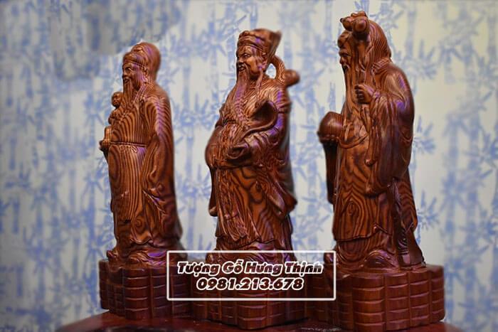 Mẫu tượng Tam Đa Phúc Lộc Thọ bằng gỗ trắc