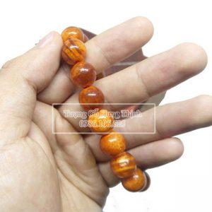 Vòng Gỗ Huyết Long 12mm Thấu Quang